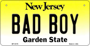 Bad Boy New Jersey Novelty Metal Bicycle Plate