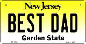 Best Dad New Jersey Novelty Metal Bicycle Plate