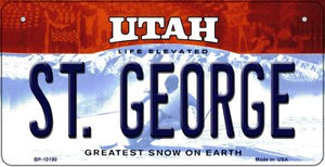 St. George Utah Novelty Metal Bicycle Plate BP-10190