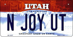 N Joy UT Utah Novelty Metal Bicycle Plate BP-10197