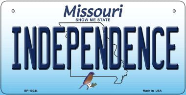 Independence Missouri Novelty Metal Bicycle Plate BP-10244