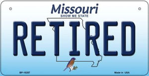 Retired Missouri Novelty Metal Bicycle Plate BP-10257