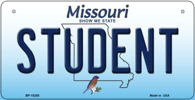Student Missouri Novelty Metal Bicycle Plate BP-10258