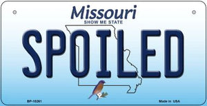 Spoiled Missouri Novelty Metal Bicycle Plate BP-10261