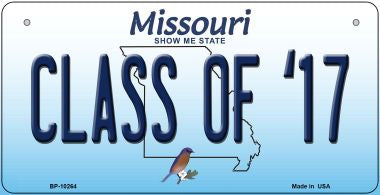 Class of '17 Missouri Novelty Metal Bicycle Plate BP-10264