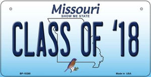 Class of '18 Missouri Novelty Metal Bicycle Plate BP-10265