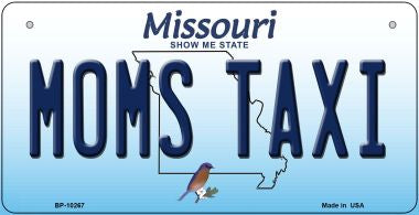 Moms Taxi Missouri Novelty Metal Bicycle Plate BP-10267