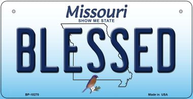 Blessed Missouri Novelty Metal Bicycle Plate