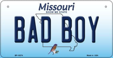 Bad Boy Missouri Novelty Metal Bicycle Plate
