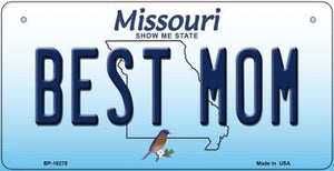 Best Mom Missouri Novelty Metal Bicycle Plate