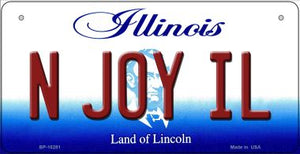 N Joy IL Illinois Novelty Metal Bicycle Plate BP-10281