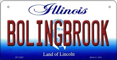 Bolingbrook Illinois Novelty Metal Bicycle Plate