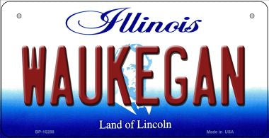 Waukegan Illinois Novelty Metal Bicycle Plate