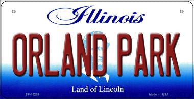 Orland Park Illinois Novelty Metal Bicycle Plate BP-10289