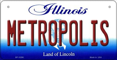 Metropolis Illinois Novelty Metal Bicycle Plate BP-10290