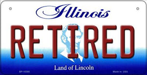 Retired Illinois Novelty Metal Bicycle Plate BP-10300