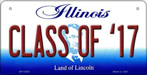 Class Of '17 Illinois Novelty Metal Bicycle Plate BP-10307