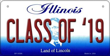 Class Of '19 Illinois Novelty Metal Bicycle Plate BP-10309