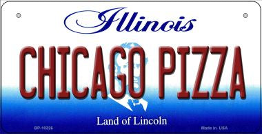 Chicago Pizza Illinois Novelty Metal Bicycle Plate