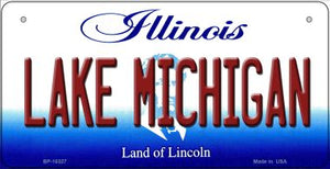 Lake Michigan Illinois Novelty Metal Bicycle Plate BP-10327