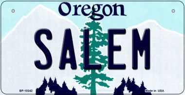Salem Oregon Novelty Metal Bicycle Plate BP-10342