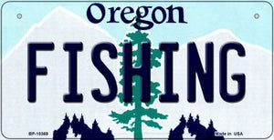 Fishing Oregon Novelty Metal Bicycle Plate BP-10369