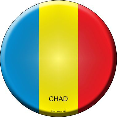 Chad Country Novelty Metal Circular Sign