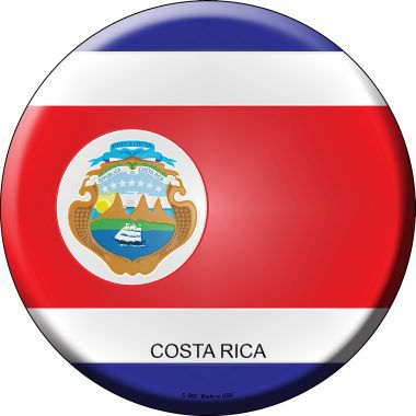 Costa Rica Country Novelty Metal Circular Sign