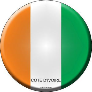 Cote D'ivoire Country Novelty Metal Circular Sign