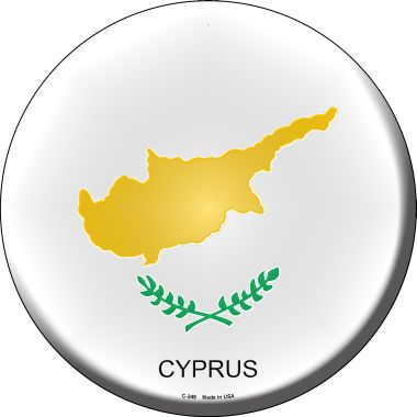 Cyprus Country Novelty Metal Circular Sign