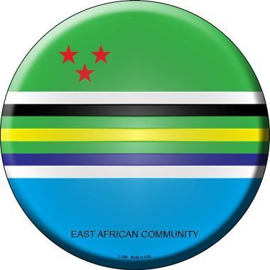 East African Community Country Novelty Metal Circular Sign