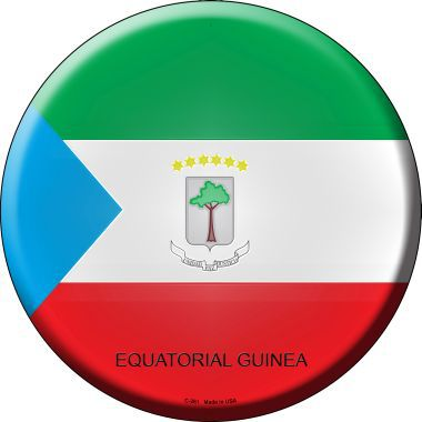 Equatorial Guinea Country Novelty Metal Circular Sign