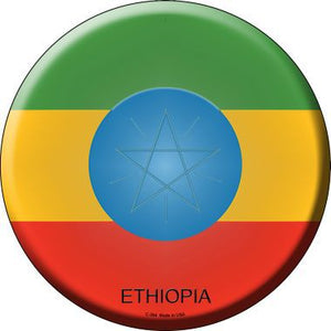 Ethiopia Country Novelty Metal Circular Sign