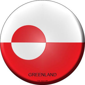 Greenland Country Novelty Metal Circular Sign