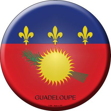 Guadeloupe Country Novelty Metal Circular Sign