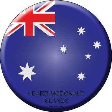 Heard McDonald Islands Country Novelty Metal Circular Sign