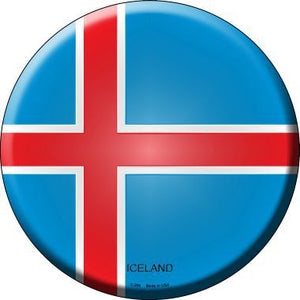 Iceland Country Novelty Metal Circular Sign