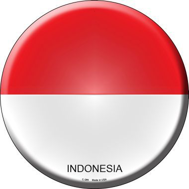 Indonesia Country Novelty Metal Circular Sign