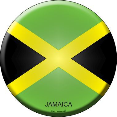 Jamaica Country Novelty Metal Circular Sign