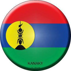 Kanaky Country Novelty Metal Circular Sign