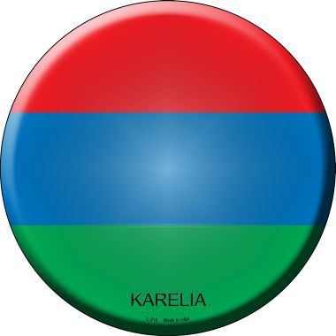 Karelia Country Novelty Metal Circular Sign
