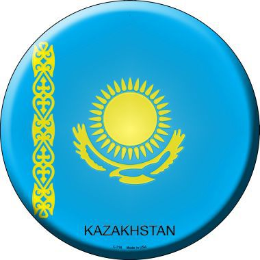 Kazakhstan Country Novelty Metal Circular Sign