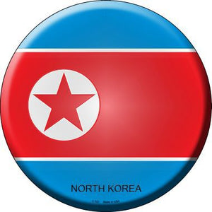 North Korea Country Novelty Metal Circular Sign C-321
