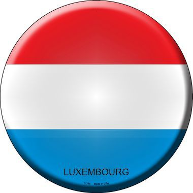 Luxembourg Country Novelty Metal Circular Sign
