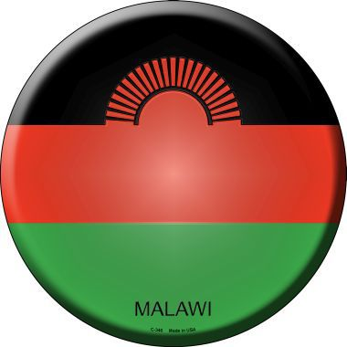 Malawi Country Novelty Metal Circular Sign