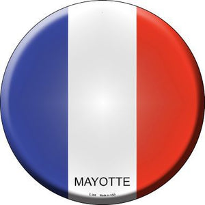 Mayotte Country Novelty Metal Circular Sign