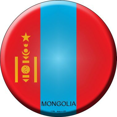 Mongolia Country Novelty Metal Circular Sign