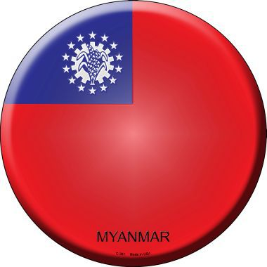 Myanmar Country Novelty Metal Circular Sign