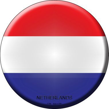 Netherlands Country Novelty Metal Circular Sign