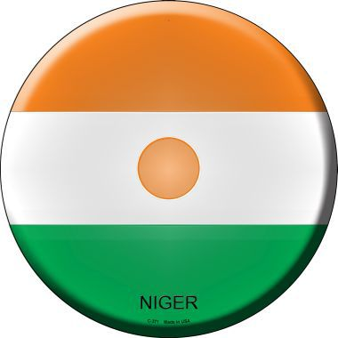 Niger Country Novelty Metal Circular Sign